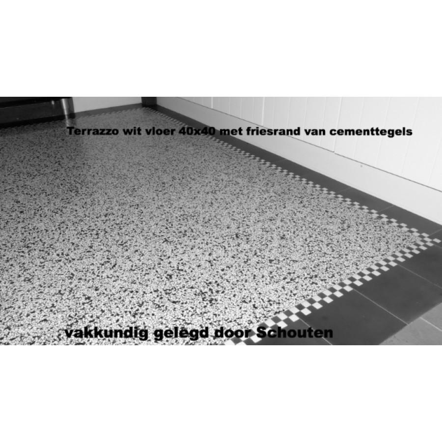 tegel Terrazzo wit vloer